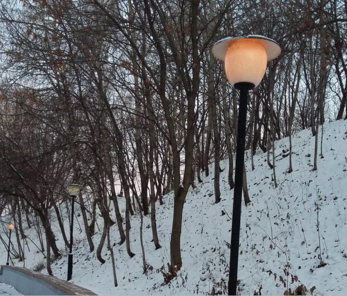 Фонари привели в порядок в парковой зоне реки Лихоборки